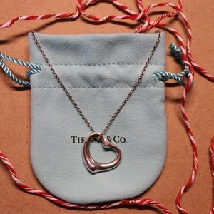 Tiffany & Co Diamond Open Heart Necklace